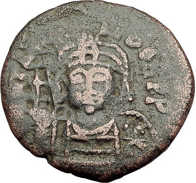 MAURICE TIBERIUS 582AD Cyzicus Follis Authentic Ancient Byzantine Coin i62568