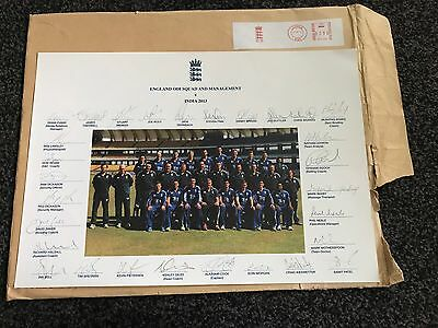 SIGNED COPY Of England 2013 Ashes Winning Squad