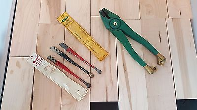 2 Red Devil, 1 Fletcher Glass Cutters - Gold Tip Pliers - Made in USA
