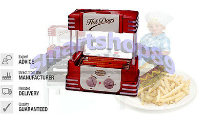 Hot Dog Roller Bun Warmer Electric Cooker Kitchen Grill Home New Machine Red