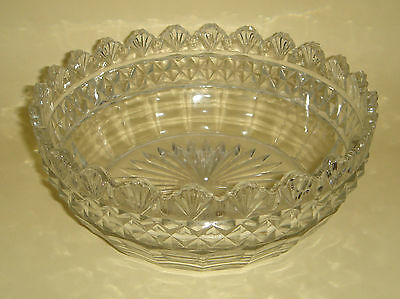 Pressed Depression Glass Master Bowl Shell Rim Rd. 578132 c.1911 Antique English