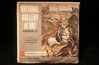 National Gallery Of Art Washington DC Viewmaster 1960s w/3 Reels & Booklet NICE