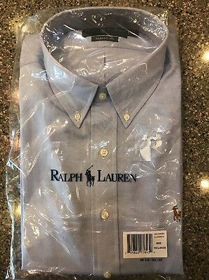 NEW Polo Ralph Lauren Men's 16 1/2 34/35 Blue Long-sleeve Dress Shirt Classic