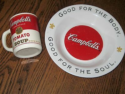 Cambell Soup Cup Marked Usa & Bowl Marked Arcopal