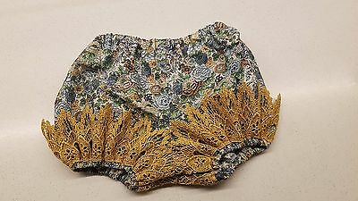 Baby nappy covers, liberty of london panties, girls bloomers, lace leg size 3-6m