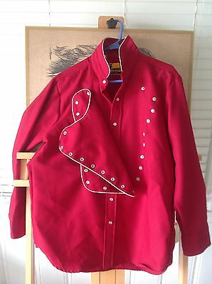 Vintage Mens Western Rockabilly Country Cowboy Shirt! Size Large!