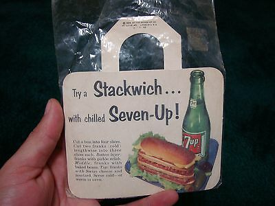 1953 7up and Stackwich advertising