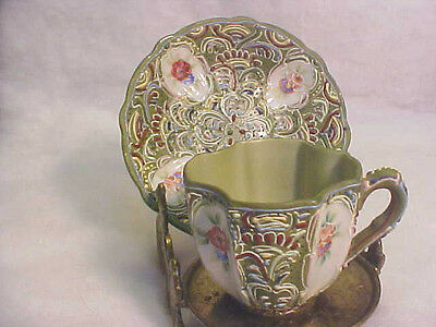 Lenwile Ardalt Demitasse Cup & Saucer #6326 Occupied Japan Hand Painted
