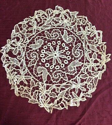Antique Victorian Finely Crafted Battenburg Tape Lace Round Many Styles Of Joins