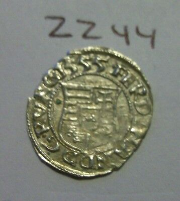 Rare High Grade 1555 Silver Medieval Coin. (lot#zz44)