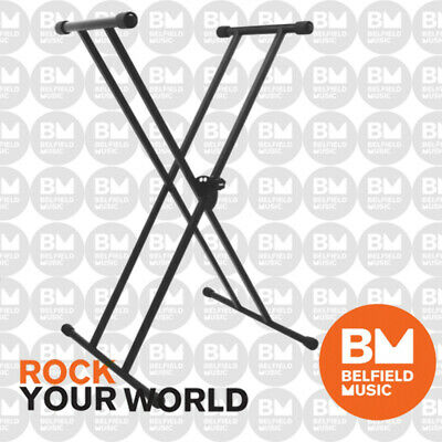 OnStage KS7191W Classic Double X Frame Keyboard Piano Stand On-Stage Stands