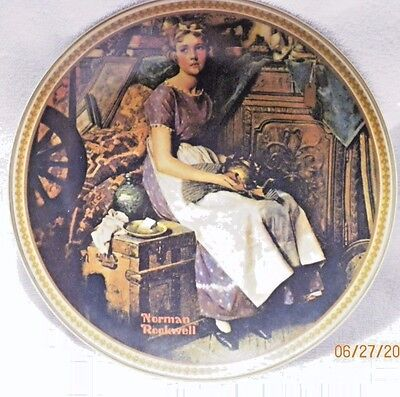 """""""Dreaming in The Attic"""" Norman Rockwell Collector Plate with COA"""