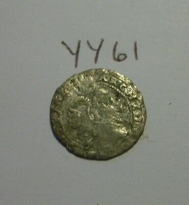 Unknown Silver Medieval Coin (dime size)(lot#yy61)