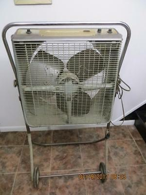 Vintage Kenmore Roll-A-Matic Box Fan With Stand