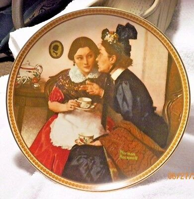 """Norman Rockwell Collector Plate """"Gossiping In The Alcove"""""""