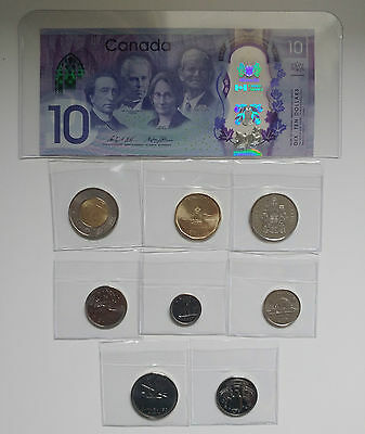 2017 Canada Coin Set - EXCLUSIVE DELUXE TRADITIONAL SET - 8 Coins plus $10 Bill