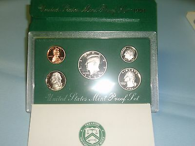 1994 S US Mint Proof Set 5 Coins with COA