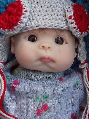 "Tiny OOAK 7"" Handsculpted Polymer Clay Baby Doll Resell"