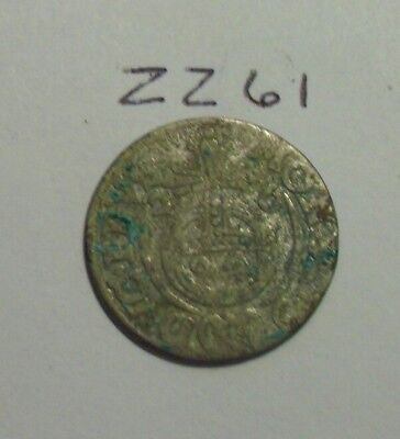 1600s Silver Medieval Coin. 1/24 thaler.  (lot #zz61)
