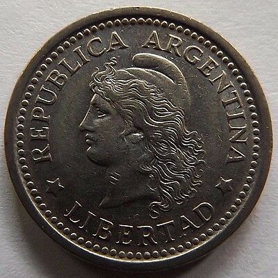 1957 Argentina Peso! Very High Grade! Great Details! 1St Year Of Issue!