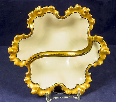 Antique Hand Painted Bowl Candy Nuts Dish 1910