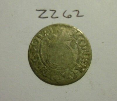 1600s Silver Medieval Coin. 1/24 thaler.  (lot #zz62)