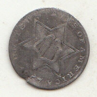 1857 Three 3 Cent Silver coin