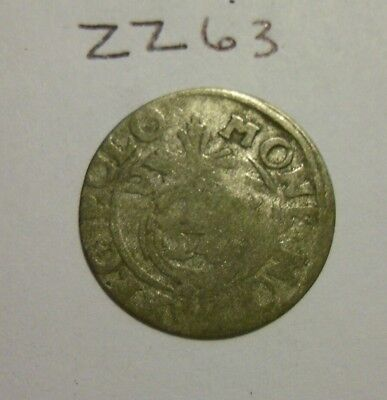 1600s Silver Medieval Coin. 1/24 thaler.  (lot #zz63)