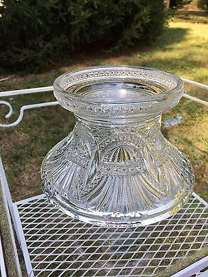 Heisey Prince of Wales Plumes #335 Punch Bowl Base Signed EAPG 1902-1912 AMAZING