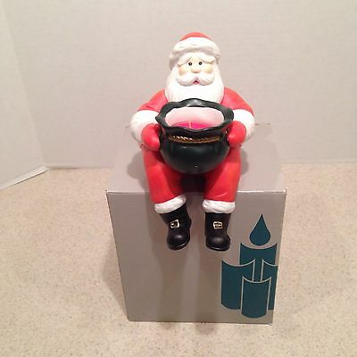 NEW IN BOX Partylite Santa Shelf Sitter Voltive Candle Holder  #P0183 RETIRED