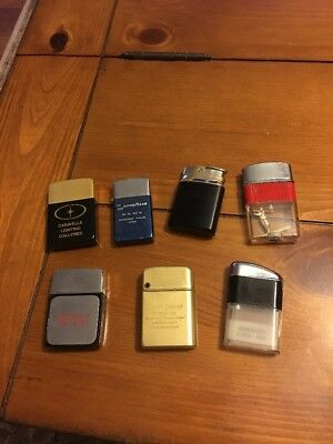 LOT OF Seven VINTAGE  LIGHTERS  Some With Advertising
