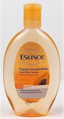 SALE! New ESKINOL FACIAL CLEANSER PAPAYA Smooth White 225ml USA Seller Fast Ship