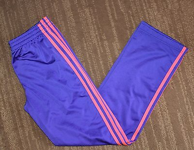 ADIDAS Youth Girls Purple Athletic Workout Running Pants Size Large 14