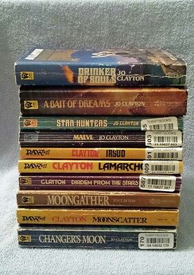 Jo Clayton 10 Book Lot Duel of Sorcery and Diadem Series