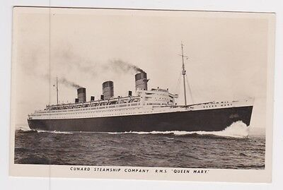 Cunard Line RMS Queen Mary RPPC Postcard Cover with Paquetbot Cancel