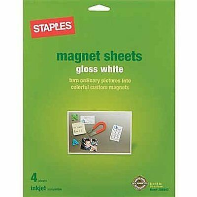 Inkjet Inkjet Printer Paper Magnetic Sheets 8.5 11-inches Sheets Per Pack (3