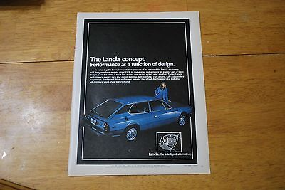 Lancia Concept Automobile 1978 Playboy Magazine ad - Excellent