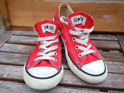 Converse All Star Red Low Top Youth Girls Boys Tennis Skater Shoes Red Size 13