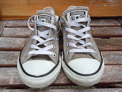 Converse All Star Gray Low Top Youth Girls Boys Tennis Skater Shoes Red Size 13