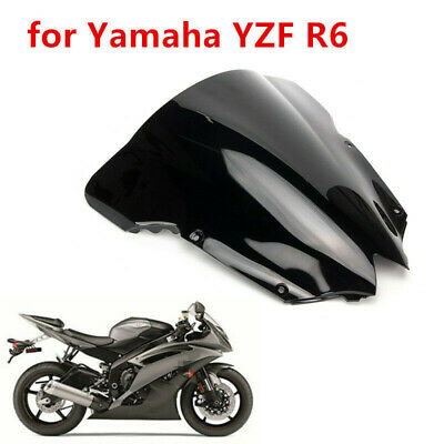 Black ABS Windshield Wind Screen for Yamaha YZF R6 YZFR6 2008-2012 2013 2014 15
