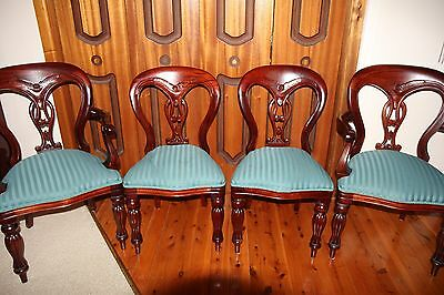 Fiddle Back Dining Chairs and Carvers Antique Style