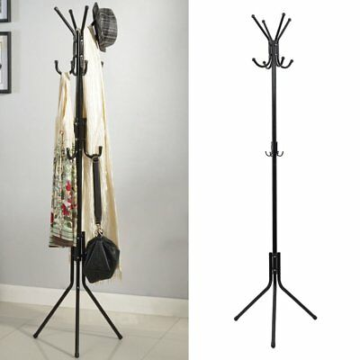 12 Hook Stylish Coat Hanger Stand Clothes Umbrella Rack Jacket Hat Scarf Stand