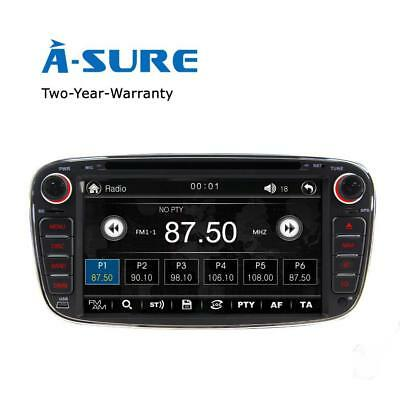 "A-Sure 7"" Ford Mondeo Focus S-max Galaxy Car DVD Player Radio GPS Stereo BT DAB+"