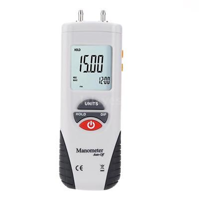 HT-1890 Digital Manometer Differential Gauge Air Pressure Meter Data Hold A6M7