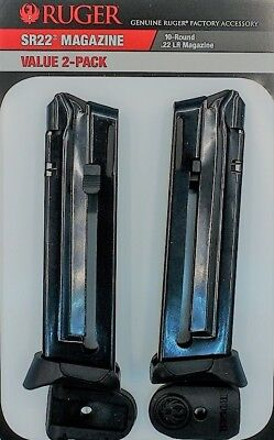 Ruger SR22 22LR 10 Round Magazine 90647 OEM SR-22 .22 10rd Mag - Value 2 Pack