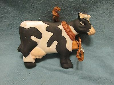 Vintage Midwest Imports Ceramic Holstein Dairy Cow Ornament Review Mirror Hang
