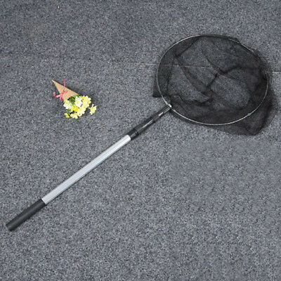 Safe Catch and Release Fish Landing Net Telescoping Handle Foldable Hoop