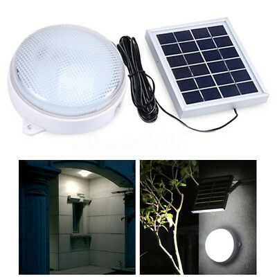 LED Solar Powered Wall Ceiling Light Durable Outdoor Lamp + Remote Controller