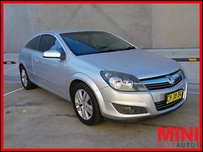 2007 Holden Astra AH CDX Coupe 2dr Auto 4sp 1.8i [MY07.5] Silver, Chrome A