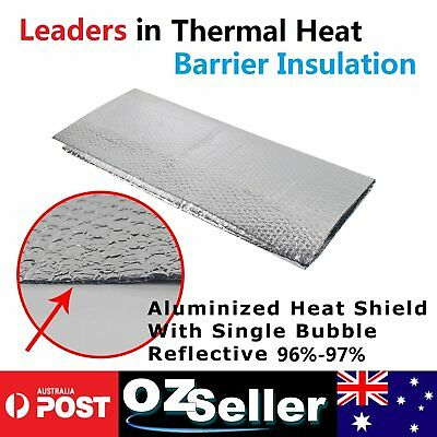 2 x 60x20CM Radiantshield Air Bubble Cell Insulation Reflective Foil Insulation